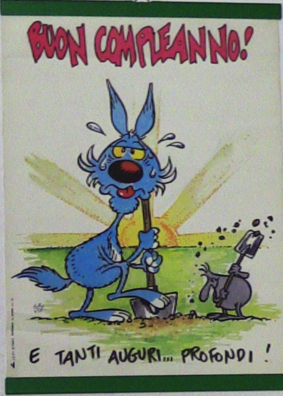 Cartoline biglietti poster mini lupo alberto