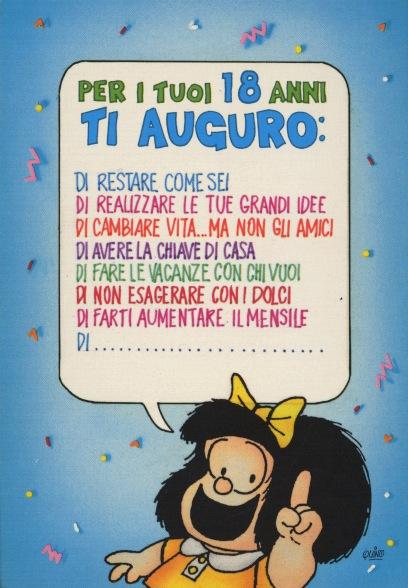 Cartoline Biglietti Poster Cartoline Mafalda 5 Buon Compleanno