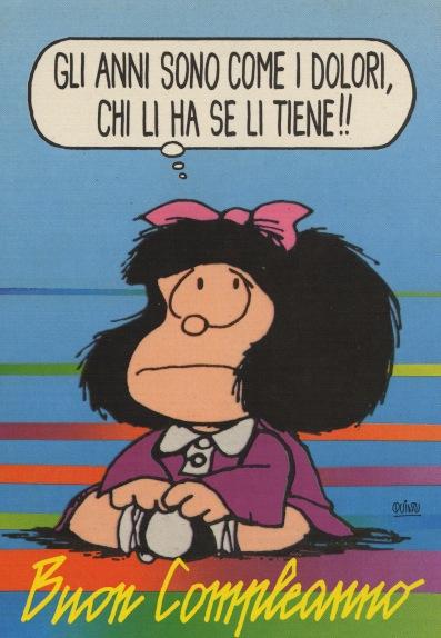 Cartoline Biglietti Poster Cartoline Mafalda 3 Buon Compleanno