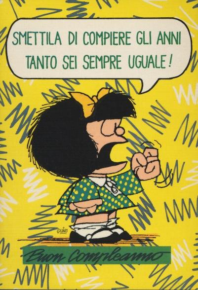 Cartoline Biglietti Poster Cartoline Mafalda 6 Buon Compleanno