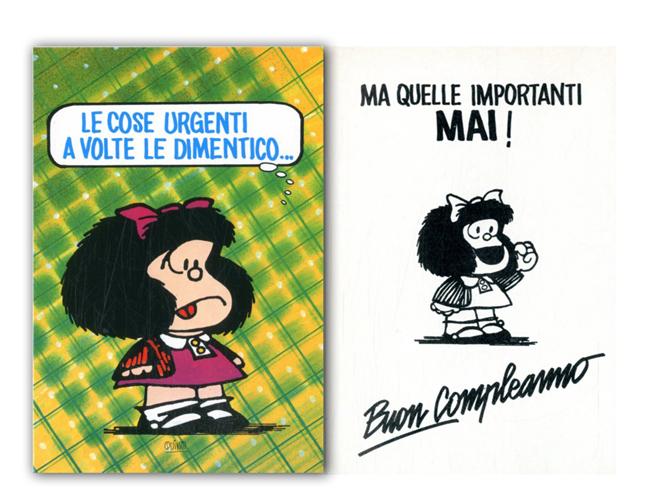 Cartoline Biglietti Poster Biglietti Mafalda 4 Buon Compleanno