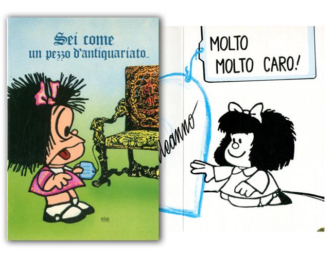 Cartoline Biglietti Poster Biglietti Mafalda 15 Buon Compleanno