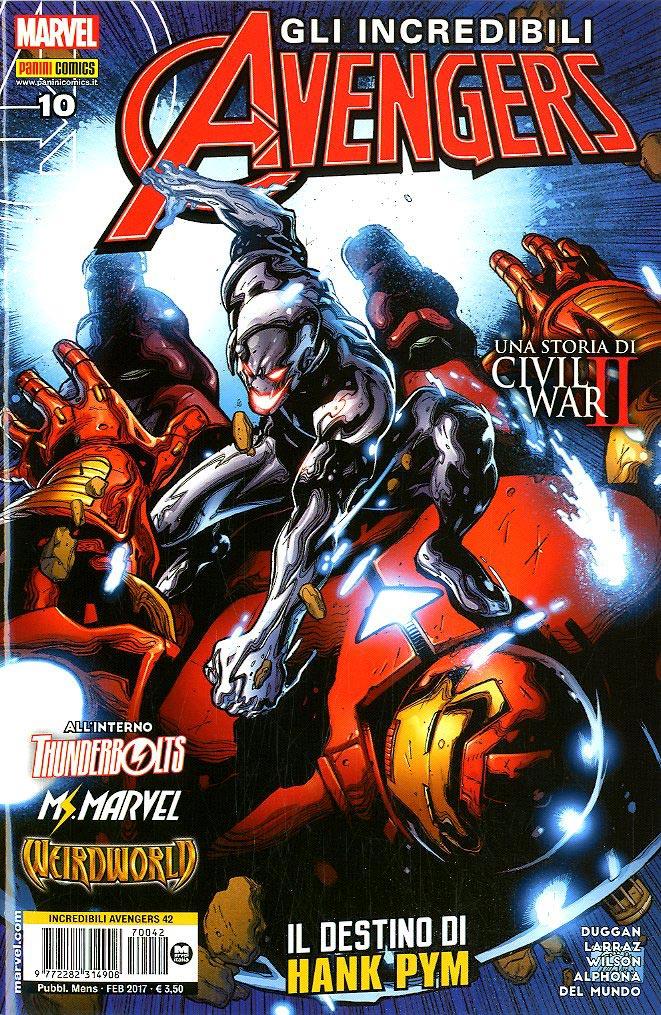 Marvel Italia Incredibili Avengers 42 Gli Incredibili border=