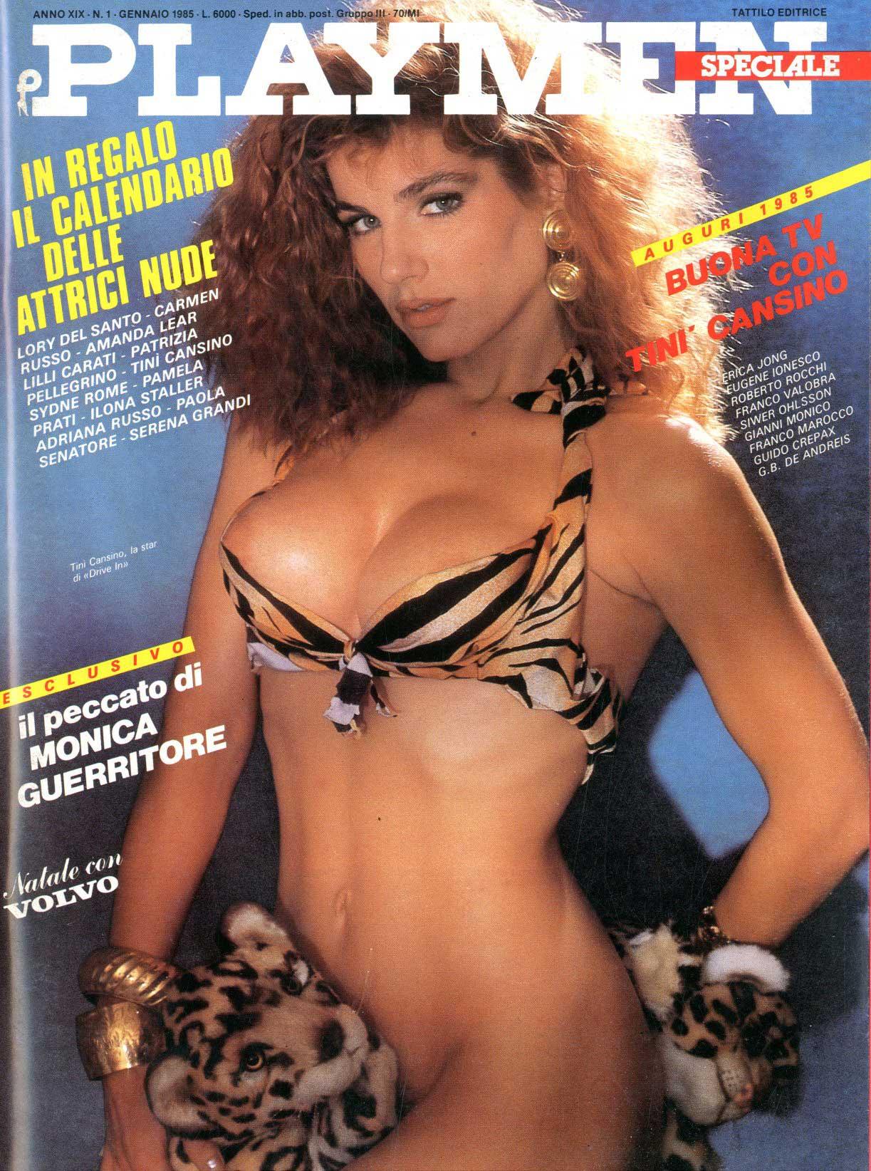 Serena Grandi Calendario.Tattilo Editrice Playmen 1985 Anno 19 1 Tini Cansino