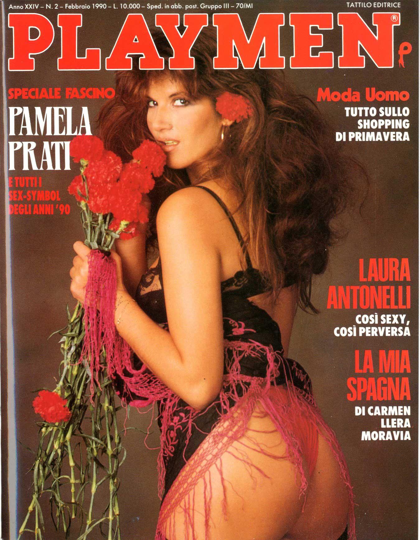 Calendario Pamela Prati.Tattilo Editrice Playmen 1990 Anno 24 2 Pamela Prati