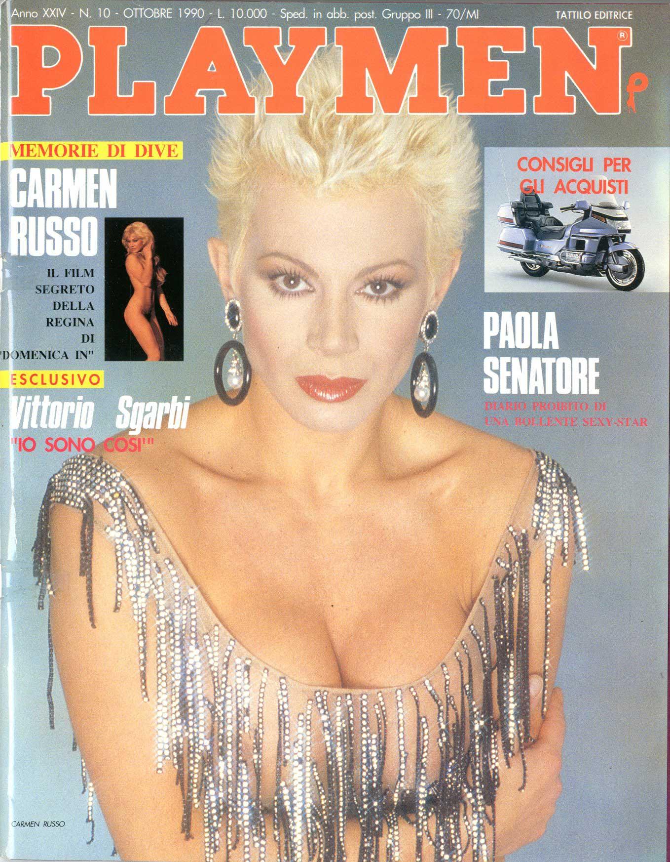 Paola Senatore tattilo editrice - playmen 1990 anno 24 10, paola senatore