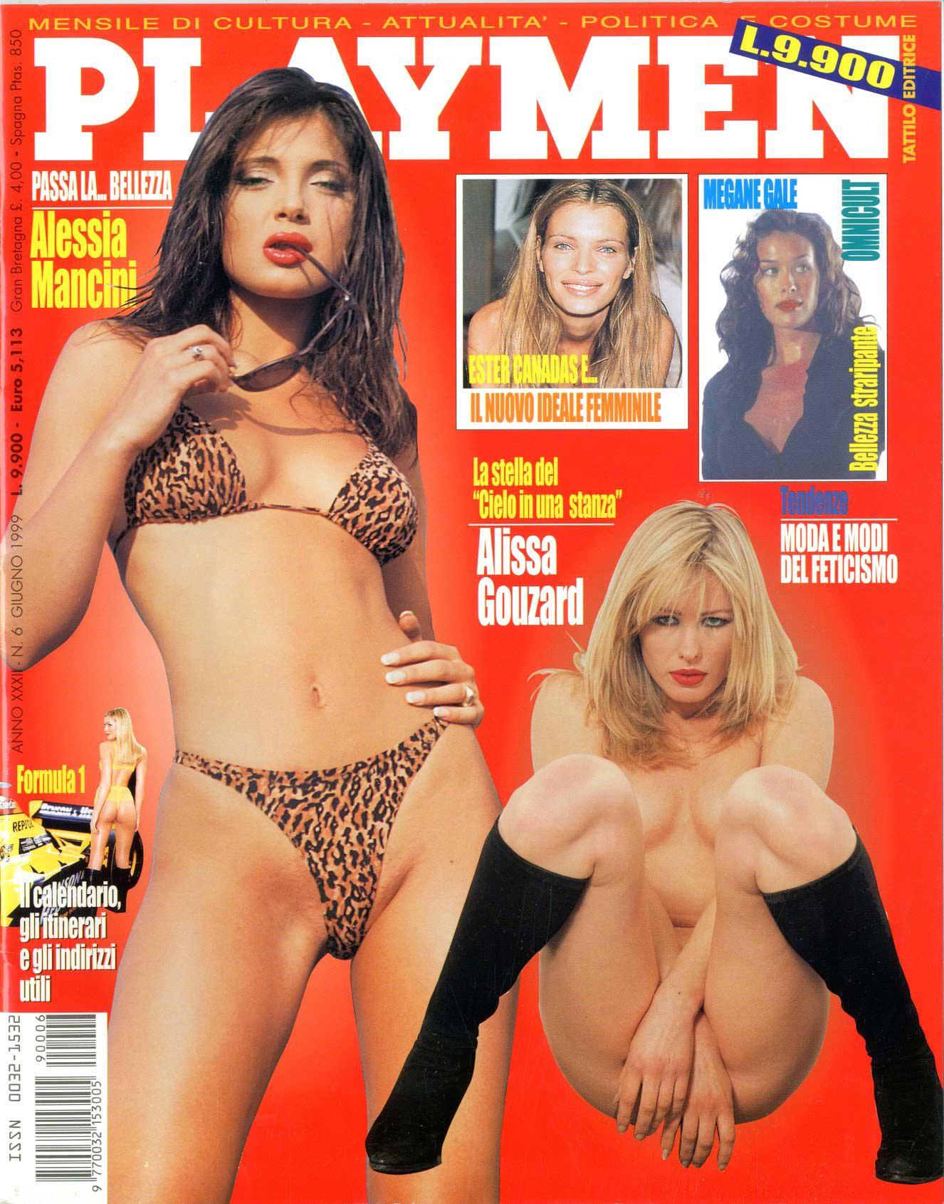 Alessia Mancini Calendario.Tattilo Editrice Playmen 1999 Anno 33 6 Alessia Mancini E Alissa Gouzard