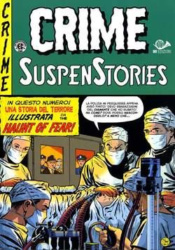 Copertina CRIME SUSPENSTORIES (m5) n.2 - ORRORE SOTTO IL TENDONE, 001 EDIZIONI