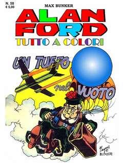 Copertina ALAN FORD TUTTO A COLORI n.58 - UN TUFFO NEL VUOTO, 1000 VOLTE MEGLIO PUBLISHING