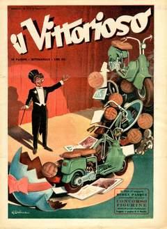 Copertina VITTORIOSO 1951 n.12 - VITTORIOSO 1951             12, A.V.E.