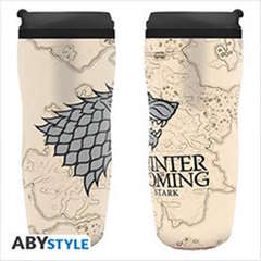 Copertina BICCHIERE ABYSTYLE n.2 - GAME OF THRONES - TUMBLER WINTER IS COMING - STARK, ABYSTYLE