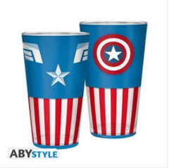 Copertina BICCHIERE ABYSTYLE n.7 - CAPITAN AMERICA 400ML, ABYSTYLE