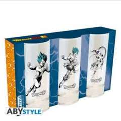 Copertina BICCHIERE ABYSTYLE n.9 - ABYVER138 - DRAGON BALL SUPER -SET 3 GLASSES 290ML, ABYSTYLE