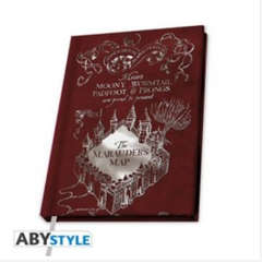 Copertina NOTEBOOK ABYSTYLE n.14 - HARRY POTTER - A6 NOTEBOOK MARAUDER MAP, ABYSTYLE