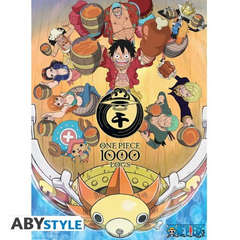 Copertina POSTER ABYSTYLE n.13 - ABYDCO797 - ONE PIECE - 1000 LOGS CHEERS (52x38), ABYSTYLE