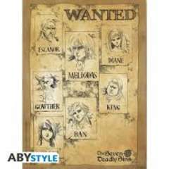 Copertina POSTER ABYSTYLE n.9 - ABYDCO812 - THE SEVEN DEADLY SINS - WANTED CM52x38, ABYSTYLE