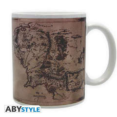 Copertina TAZZE ABYSTYLE n.1 - LORD OF THE RINGS 320 ml - MAP, ABYSTYLE