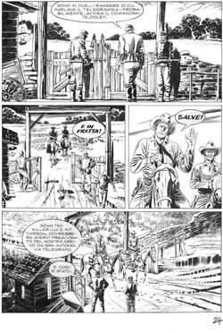 Copertina TEX SEMINOLES TAVOLE ORIGINALI n.24 - TEX SEMINOLES TAVOLE ORIG   24, ALESSANDRO EDITORE