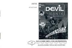 Copertina GUIDE DEL COLLEZIONISTA n.30 - DEVIL, ALESSANDRO TESAURO