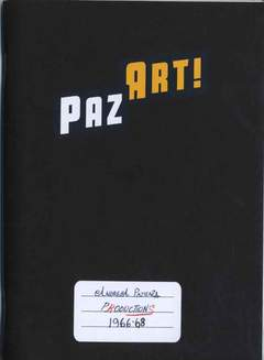 Copertina QUADERNO PAZ ART! n. - ANDREA PAZIENZA PRODUCTIONS 1966-1968, AMICI DEL FUMETTO