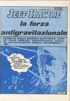 Copertina FUMETTO ANAF SUPPLEMENTI n.1 - SUPP.AL 10 1973 JEFF HAWKE FORZA ANTIGRAVITAZIONAL, ANAF/ANAFI