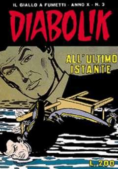 Copertina DIABOLIK ANNO 10 n.3 - DIABOLIK ANNO 10             3, ASTORINA SRL