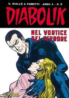 Copertina DIABOLIK ANNO 10 n.2 - NEL VORTICE DEL TERRORE, ASTORINA SRL