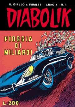 Copertina DIABOLIK ANNO 10 n.1 - PIOGGIA DI MILIARDI, ASTORINA SRL