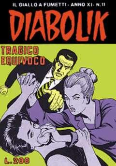 Copertina DIABOLIK ANNO 11 n.11 - TRAGICO EQUIVOCO, ASTORINA SRL