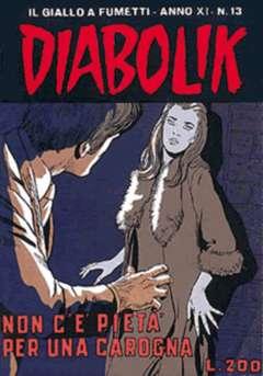 Copertina DIABOLIK ANNO 11 n.13 - DIABOLIK ANNO 11            13, ASTORINA SRL