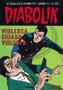 Copertina DIABOLIK ANNO 11 n.23 - VIOLENZA CHIAMA VIOLENZA, ASTORINA SRL