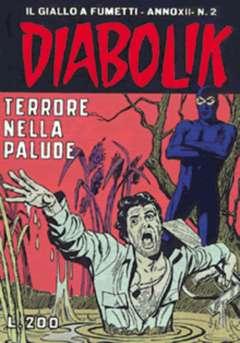 Copertina DIABOLIK ANNO 12 n.2 - TERRORE NELLA PALUDE, ASTORINA SRL