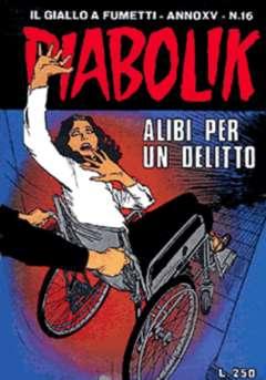 Copertina DIABOLIK ANNO 15 n.16 - ALIBI PER UN DELITTO, ASTORINA SRL