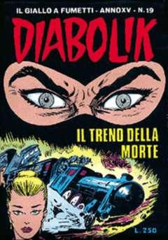 Copertina DIABOLIK ANNO 15 n.19 - IL TRENO DELLA MORTE, ASTORINA SRL