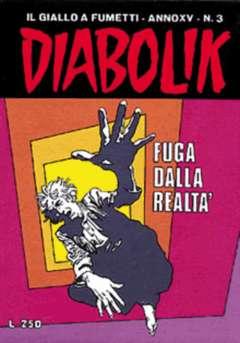 Copertina DIABOLIK ANNO 15 n.3 - FUGA DALLA REALTA', ASTORINA SRL