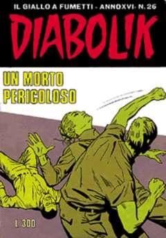 Copertina DIABOLIK ANNO 16 n.26 - UN MORTO PERICOLOSO, ASTORINA SRL