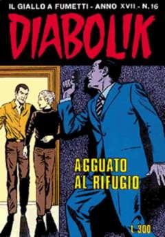 Copertina DIABOLIK ANNO 17 n.16 - AGGUATO AL RIFUGIO, ASTORINA SRL