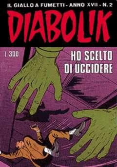 Copertina DIABOLIK ANNO 17 n.2 - HO SCELTO DI UCCIDERE, ASTORINA SRL