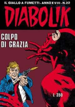Copertina DIABOLIK ANNO 18 n.22 - COLPO DI GRAZIA, ASTORINA SRL