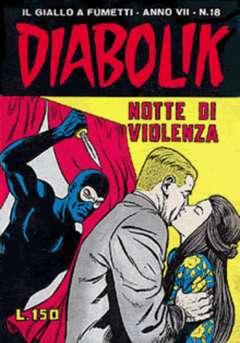 Copertina DIABOLIK ANNO 7 n.18 - NOTTE DI VIOLENZA, ASTORINA SRL