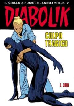 Copertina DIABOLIK ANNO 18 n.2 - COLPO TRAGICO, ASTORINA SRL