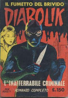 Copertina DIABOLIK ANNO 2 n.2 - INAFFERRABILE CRIMINALE, ASTORINA SRL