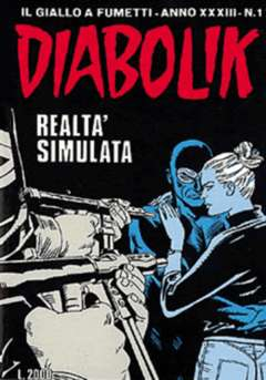 Copertina DIABOLIK ANNO 33 n.1 - REALTA' SIMULATA, ASTORINA SRL