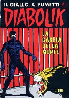 Copertina DIABOLIK RISTAMPA n.165 - LA GABBIA DELLA MORTE, ASTORINA SRL