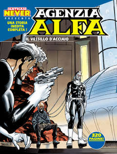Copertina AGENZIA ALFA n.7 - IL VESSILLO D'ACCIAIO, BONELLI EDITORE