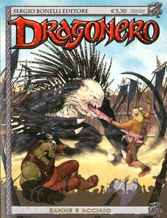 Copertina DRAGONERO n.6 - ZANNE E ACCIAIO, BONELLI EDITORE
