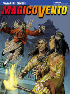 Copertina MAGICO VENTO n.107 - Vampiri cinesi, BONELLI EDITORE
