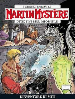 Copertina MARTIN MYSTERE n.339 - L'inventore di miti, BONELLI EDITORE
