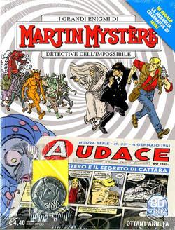 Copertina MARTIN MYSTERE n.375 - AUDACE 331 (+ Medaglia JAVA), BONELLI EDITORE
