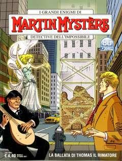 Copertina MARTIN MYSTERE n.380 - LA BALLATA DI THOMAS IL RIMATORE, BONELLI EDITORE